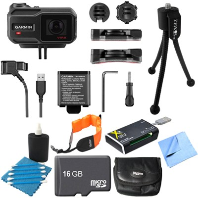 VIRB X Compact Waterproof HD Action Camera with G-Metrix 16GB Memory Card Bundle
