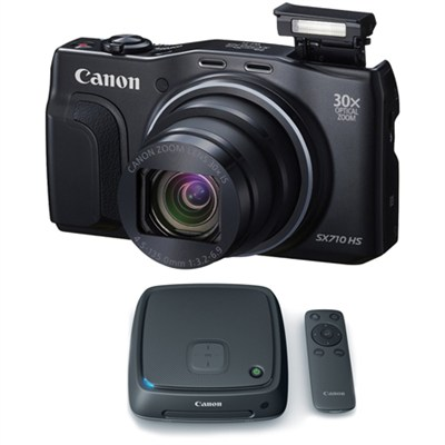 PowerShot SX710 HS 20.3MP HD 1080p Black Digital Camera Connect Station Bundle