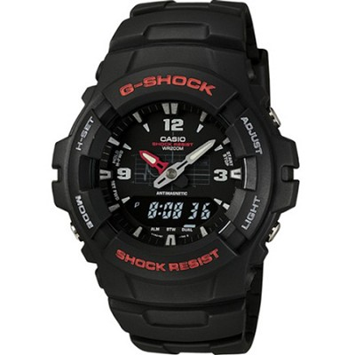 G100-1BV - Mens's G-Shock Ana-Digi Black Watch