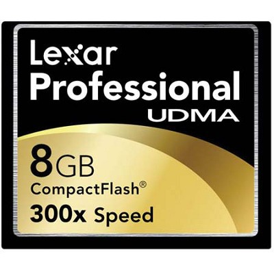 8 GB Professional UDMA 300X CompactFlash Card