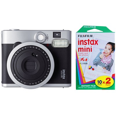 Instax Mini 90 Neo Classic Instant Film Camera w/ 20 Sheets Instant Film Bundle