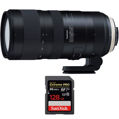 SP 70-200mm F/2.8 Di VC USD G2 Lens (A025) for Canon + 128GB Memory Card