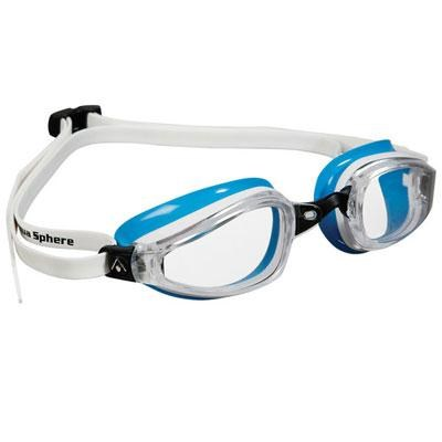 K180 Lady Swim Goggles with Clear Lens and White/Black Frame - 173270
