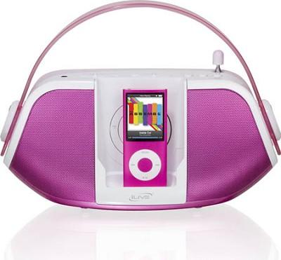 Ib109P Am/Fm Radio With Ipod(R) Dock (Pink)