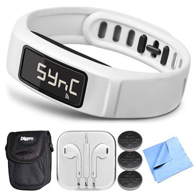 Vivofit 2 Bluetooth Fitness Band (White)(010-01503-01) Bundle