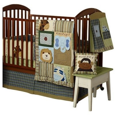 Jungle Faces Crib Set - 4 piece