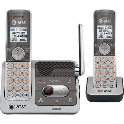 DECT6.0 DIGITAL Dual Phone Handset Answering System - CL82201