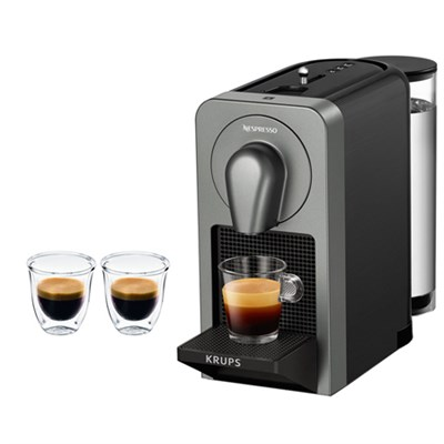 Prodigio Smart Coffee & Espresso Maker w/Smartphone Connectivity Titan + Glasses