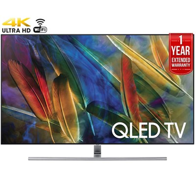 55` 4K Ultra HD Smart QLED TV (2017)+1 Year Extended Warranty-Refurbished