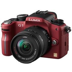 G1-series 12.1MP SLR Digital Camera (Red) w/ Lumix G Vario 14-45 mm f/3.5-5.6