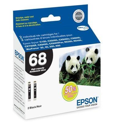 Black Dual-Pack High Capacity Inkjet Cartridge - T068120-D2