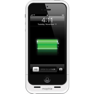 Juice Pack Air  External 1700mAh Battery Case for iPhone 5 (White) - OPEN BOX