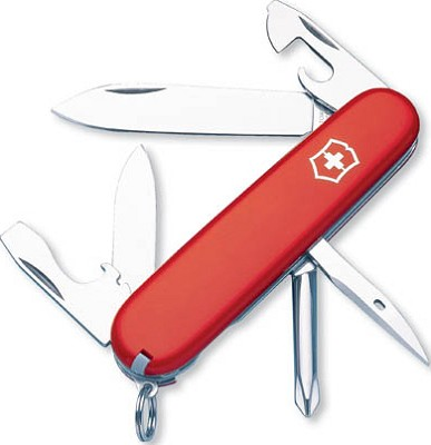 Tinker Classic Pocket Knife (Red) With Sharpener