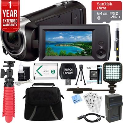 HDR-CX405/B Full HD 60p Camcorder + 64GB MicroSD Accessory Bundle