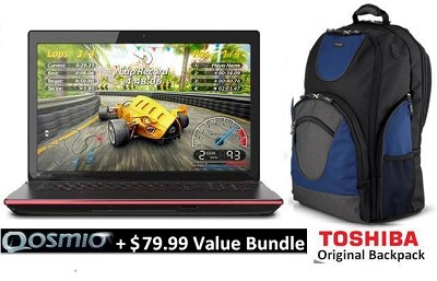 Qosmio 17.3`  X75-A7170 Notebook PC - Intel Core i7-4700MQ+ Value Bundle