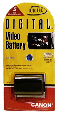 BP-422L 2600MAH Lithium Ion Battery F/ Optura 300