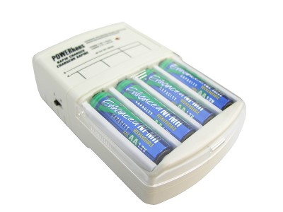Rapid Charger and four AA 2100mAh NiMH Batteries