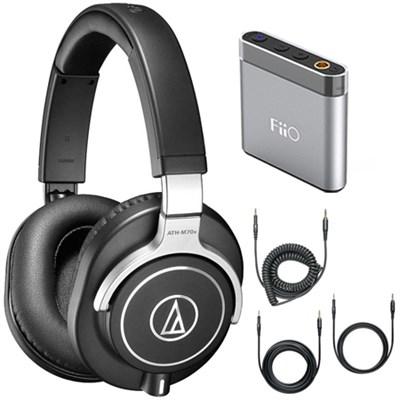 ATH-M70x Professional Monitor Headphones - Black Amplifier Bundle