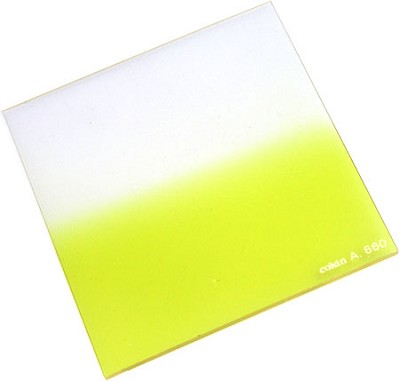 A660 Graduated Fluorescent Yellow 1 Resin Filter - OPEN BOX