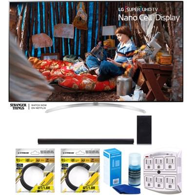SUPER UHD 60` 4K HDR Smart LED TV 2017 Model with Sound Bar Bundle