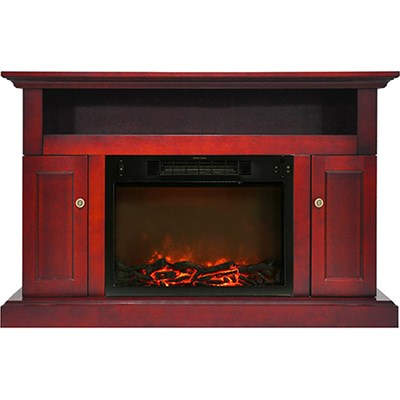 Sorrento Fireplace Mantel with Electronic Fireplace Insert - CAM5021-2CHR