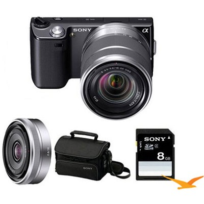 Alpha NEX-5 Bundle with SEL 18-55mm, SEL 16mm f 2.8, Sony 8GB Card and Case