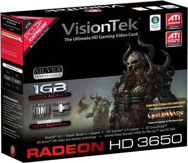 RADEON HD3650 PCIE 1GB 2PORT DVI 300W REQ