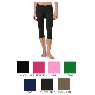 Capri Yoga Pants Black/Grape Purple (2-Pack) Size 3X-5X