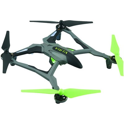 Vista UAV Ready-to-Fly Intense Performance Quadcopter RTF Drone (Green) DIDE03GG