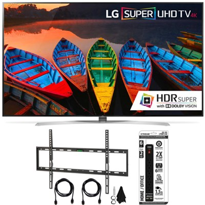 65UH9500  65-Inch Super UHD 4K Smart TV w/ webOS 3.0 Flat Wall Mount Bundle