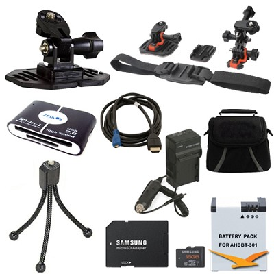 GoPro Helmet Accessory Kit 1 for the Hero 4, Hero 4+ and all action cameras