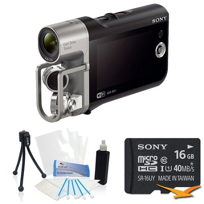 HD Camcorder with Premium Audio - Music Video Recorder Bundle
