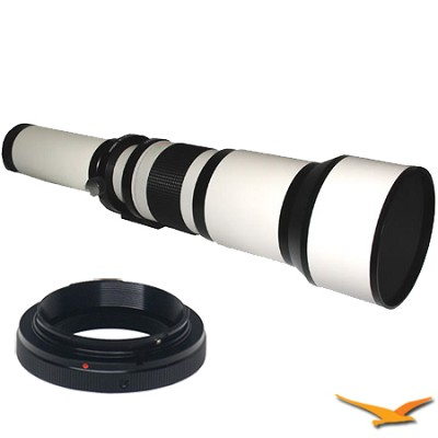 650-1300mm F8.0-F16.0 Zoom Lens for Pentax (White Body) - 650Z