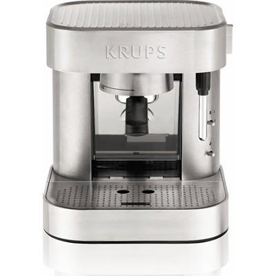 Espresso Maker, Mechanical 15 Bar Pump - Silver