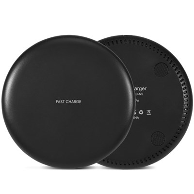QI Wireless Fast-Charging Pad in Matte Black - 10W Output