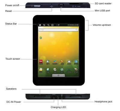 T301 Cruz 7-Inch Android 2.0 Tablet (Black)