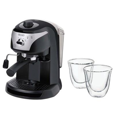 Pump Driven Espresso/Cappuccino w/ Double Walled Thermo Espresso Glasses