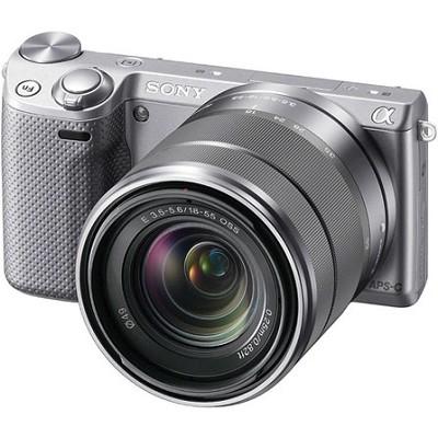 NEX-5RK/S Compact Interchangeable Lens Digital 18-55 Lens (Silver) - OPEN BOX
