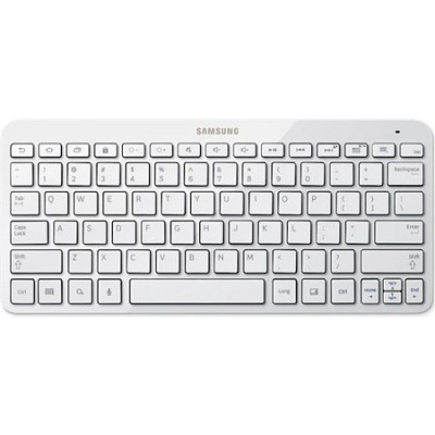 White Bluetooth Keyboard for Galaxy Tabs and Select Smartphones