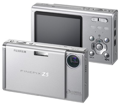 FinePix Z5fd 6.3 MP, Super CCD and Real Photo Technology (Silver)