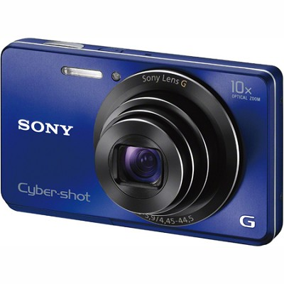 Cyber-shot DSC-W690 16MP 10X Zoom 720p Video Digital Camera (Blue)