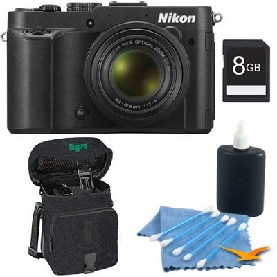 COOLPIX P7700 12.2MP 3-inch LCD Black Digital Camera Kit