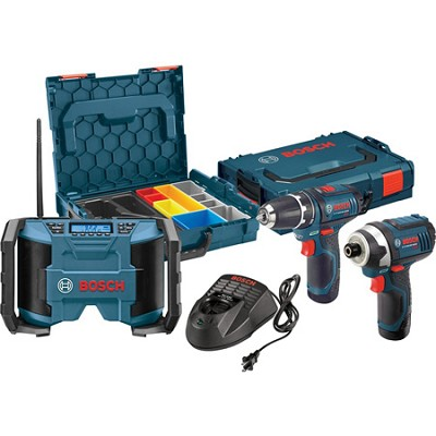 12-volt Max Lithium-Ion 3-Tool Drill/Driver, Impact Driver, and Radio Combo Kit