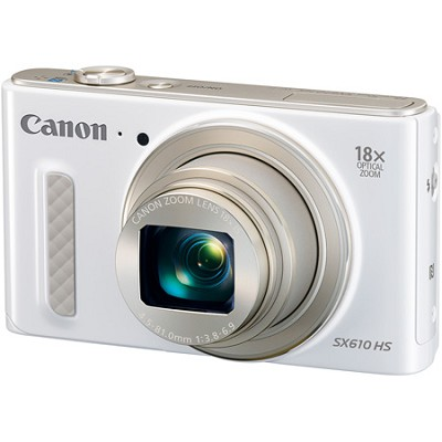 PowerShot SX610 HS 20.2 MP Digital Camera 18x Zoom 3-inch LCD with WiFi - White