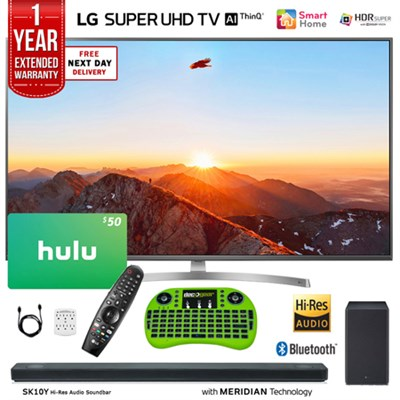 49-Class 4K HDR Smart LED AI SUPER UHD TV w/ ThinQ + Sound Bar & Hulu Bundle