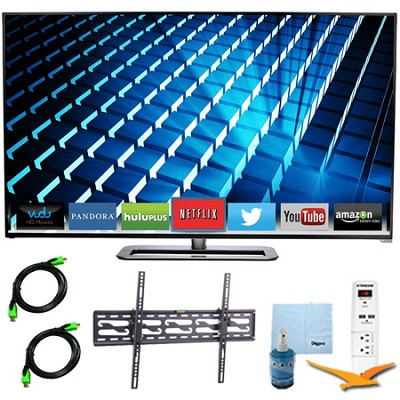 M552i-B 55` LED Smart HDTV 1080p Full HD 240Hz Plus Tilt Mount & Hook-Up Bundle