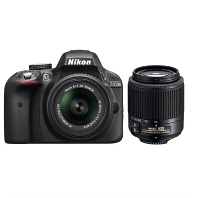 Nikon D3300 24.2MP DSLR Camera with 18-55mm & 55-200mm Lens