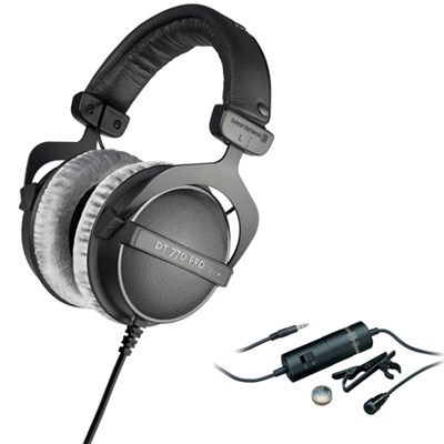 250 Ohms Studio Headphones DT-770-PRO-250 with Audio-Technica Microphone