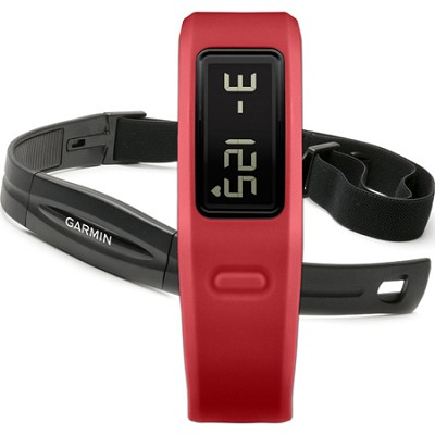 Vivofit Fitness Band Bundle Heart Rate Monitor (Red)