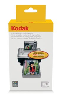160-pack Color Cartridge/Photo Paper Kit for the Printer Docks